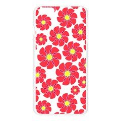Seamless Floral Flower Red Fan Red Rose Apple Seamless iPhone 6 Plus/6S Plus Case (Transparent)