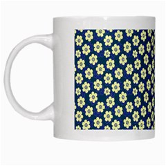 Floral Seamless Flower Blue White Mugs