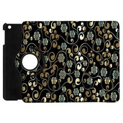 Clipart Chromatic Floral Gold Flower Apple Ipad Mini Flip 360 Case