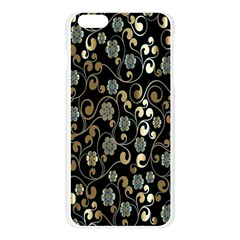 Clipart Chromatic Floral Gold Flower Apple Seamless iPhone 6 Plus/6S Plus Case (Transparent)