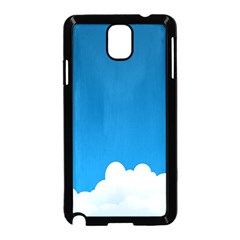 Clouds Illustration Blue Sky Samsung Galaxy Note 3 Neo Hardshell Case (black)