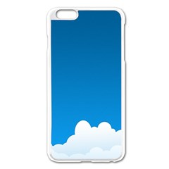 Clouds Illustration Blue Sky Apple Iphone 6 Plus/6s Plus Enamel White Case