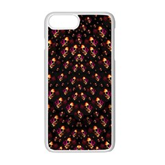Skulls In The Dark Night Apple Iphone 7 Plus White Seamless Case