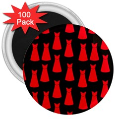 Dresses Seamless Pattern 3  Magnets (100 pack)