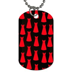 Dresses Seamless Pattern Dog Tag (Two Sides)