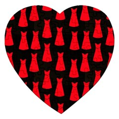 Dresses Seamless Pattern Jigsaw Puzzle (Heart)