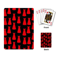 Dresses Seamless Pattern Playing Card