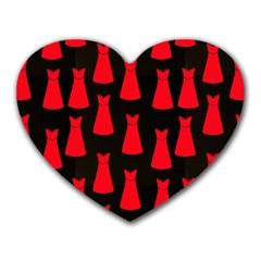 Dresses Seamless Pattern Heart Mousepads