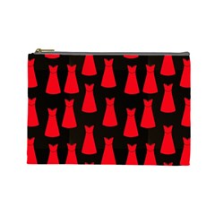 Dresses Seamless Pattern Cosmetic Bag (Large)