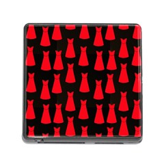 Dresses Seamless Pattern Memory Card Reader (Square)