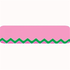Easter Chevron Pattern Stripes Large Bar Mats