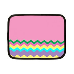 Easter Chevron Pattern Stripes Netbook Case (Small)