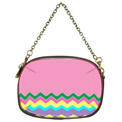Easter Chevron Pattern Stripes Chain Purses (One Side)