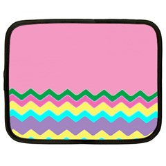 Easter Chevron Pattern Stripes Netbook Case (XXL)