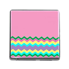 Easter Chevron Pattern Stripes Memory Card Reader (Square)