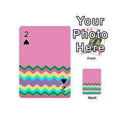 Easter Chevron Pattern Stripes Playing Cards 54 (Mini)