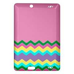 Easter Chevron Pattern Stripes Amazon Kindle Fire HD (2013) Hardshell Case
