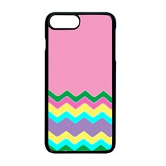 Easter Chevron Pattern Stripes Apple Iphone 7 Plus Seamless Case (black)