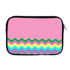 Easter Chevron Pattern Stripes Apple Macbook Pro 17  Zipper Case