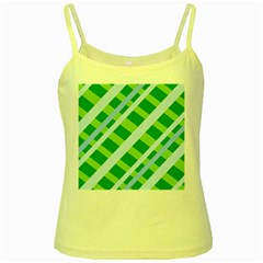 Fabric Cotton Geometric Diagonal Yellow Spaghetti Tank