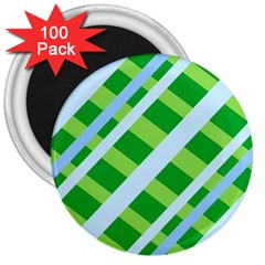 Fabric Cotton Geometric Diagonal 3  Magnets (100 pack)