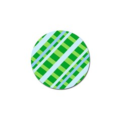 Fabric Cotton Geometric Diagonal Golf Ball Marker (4 pack)