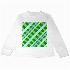 Fabric Cotton Geometric Diagonal Kids Long Sleeve T-Shirts