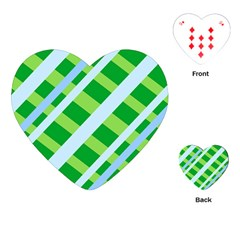 Fabric Cotton Geometric Diagonal Playing Cards (Heart)