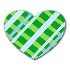 Fabric Cotton Geometric Diagonal Heart Mousepads