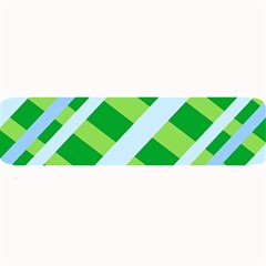Fabric Cotton Geometric Diagonal Large Bar Mats