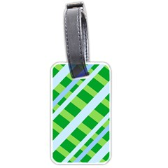 Fabric Cotton Geometric Diagonal Luggage Tags (Two Sides)