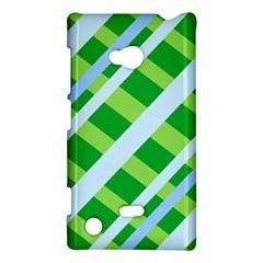 Fabric Cotton Geometric Diagonal Nokia Lumia 720