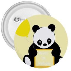 First Birthday Panda Card 3  Buttons