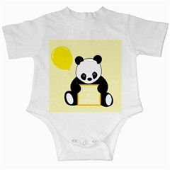 First Birthday Panda Card Infant Creepers
