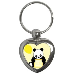 First Birthday Panda Card Key Chains (Heart)