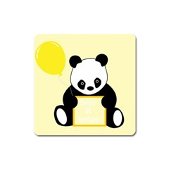 First Birthday Panda Card Square Magnet