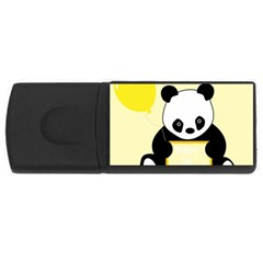 First Birthday Panda Card USB Flash Drive Rectangular (1 GB)