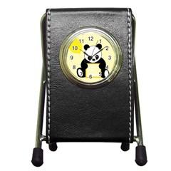 First Birthday Panda Card Pen Holder Desk Clocks