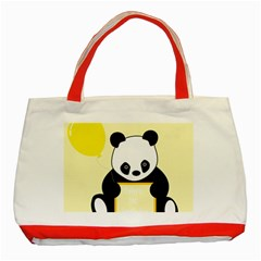 First Birthday Panda Card Classic Tote Bag (Red)