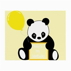 First Birthday Panda Card Small Glasses Cloth (2-Side)
