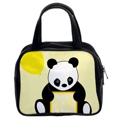 First Birthday Panda Card Classic Handbags (2 Sides)