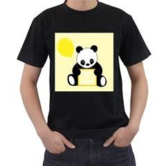 First Birthday Panda Card Men s T-Shirt (Black)