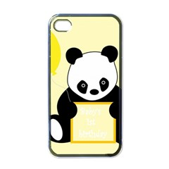 First Birthday Panda Card Apple iPhone 4 Case (Black)