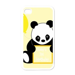 First Birthday Panda Card Apple iPhone 4 Case (White)