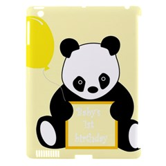 First Birthday Panda Card Apple iPad 3/4 Hardshell Case (Compatible with Smart Cover)