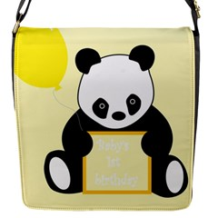 First Birthday Panda Card Flap Messenger Bag (s)