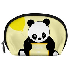 First Birthday Panda Card Accessory Pouches (Large)