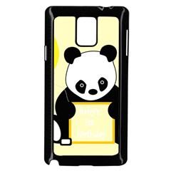 First Birthday Panda Card Samsung Galaxy Note 4 Case (Black)