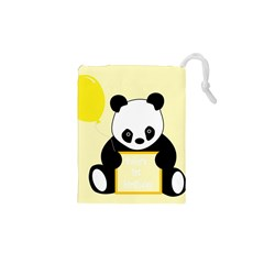 First Birthday Panda Card Drawstring Pouches (XS)