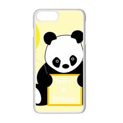 First Birthday Panda Card Apple Iphone 7 Plus White Seamless Case
